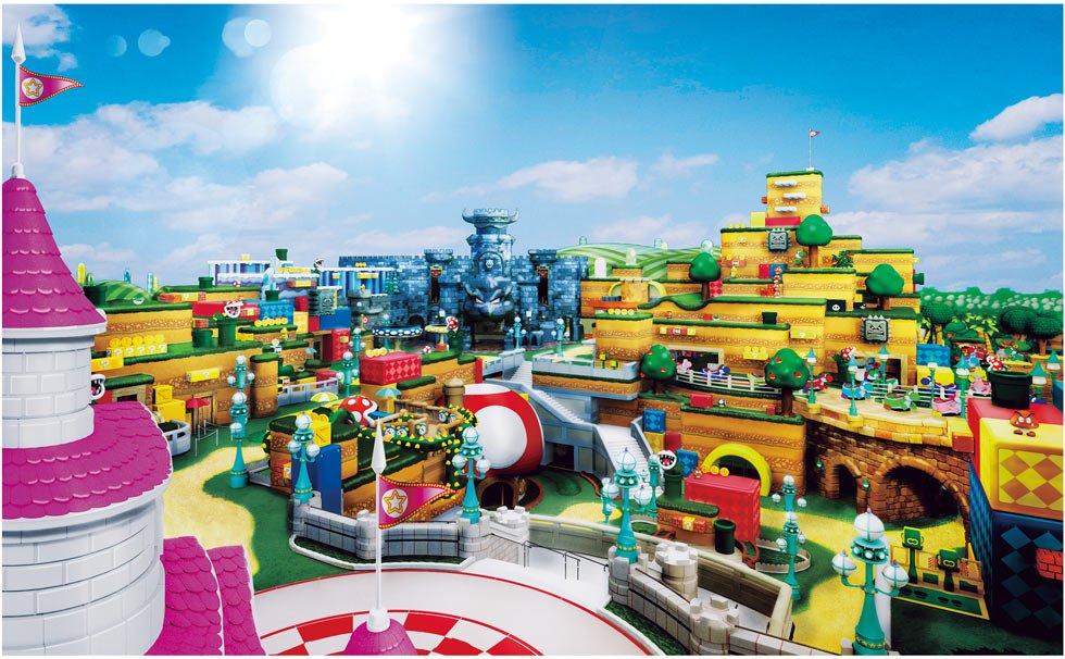 New Concept Art For Super Nintendo World Released By Universal Studios Japan Theme Park Shark